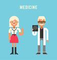 Medicine Concept Male and Female Cartoon vector image vector image