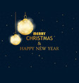 merry christmas and happy new year golden vector image vector image