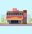 mobile theater building flat vector image