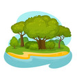 natural scenery landscape environment nature vector image