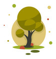 new cartoon style tree icon isolated on white vector image vector image