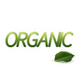 organic design logo green leaves badge vector image vector image
