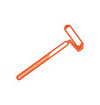 painting roller tool vector image vector image