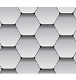 paper seamless hexagon pattern vector image vector image