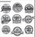 quality silver retro vintage badges and labels vector image