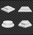 realistic detailed 3d white blank podiums template vector image vector image