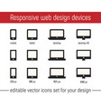 responsive icon images flat responsive design vector image