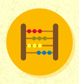 round flat design abacus toy icon vector image vector image