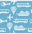 Seamless pattern background transport vector image vector image