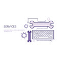 services of technical support business concept web vector image vector image