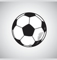 soccer ball drawing hand drawn vector image