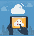 spam the cloud computing vector image