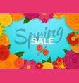 spring sale concept marketing banner template vector image vector image