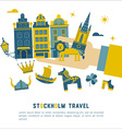 Stockholm travel card vector image vector image