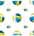 summer background with beach balls vector image