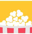 Super Big Popcorn Red White Strip Box Cinema icon vector image vector image