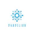 template concept flat logo icon dandelion vector image vector image