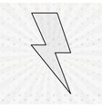 thunder icon design vector image vector image