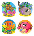 various marine animals images 1 vector image
