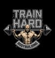 vintage bodybuilding logo vector image vector image