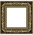 Vintage gold frame vector image vector image