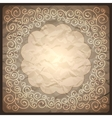 Vintage retro background with ornamental frame vector image vector image