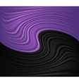 Wave violet and black background vector image vector image