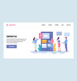web site gradient design template contact vector image vector image