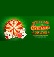 welcome online casino banner vector image
