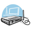 wireless router vector image