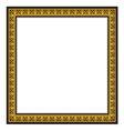 gold antique frame isolated on white background vector image