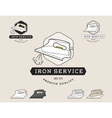 Simple flat black and white steam iron cleaning vector image