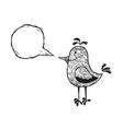bird with speech bubble vector image