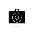 camera shutter icon in black color art vector image