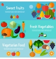 Food banners in flat style vector image