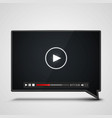 player video chat frame on the white background vector image