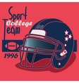 american football and rugby game poster vector image