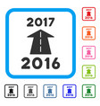 2017 future road framed icon vector image vector image