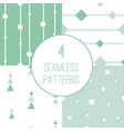 4 simple minimalistic seamless geometric patterns vector image