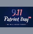 9 11 partiot day vintage blue banner vector image vector image