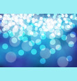 abstract white bokeh on blue night vector image vector image