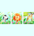 african zoo or safari animals posters for kids vector image vector image