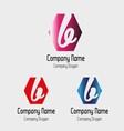 B letter logo - Symbol letter B vector image