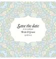 Beautiful abstract wedding invitation vector image