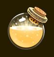 bottle of light game icon of magic elixir vector image