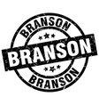 branson black round grunge stamp vector image vector image