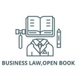 business lawopen book line icon business vector image