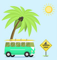 campers vacation travel car summer nature vector image vector image