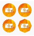 Cash sign icon Yen Money symbol Coin vector image vector image