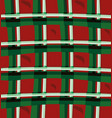 christmas pattern with white and green cage on a vector image